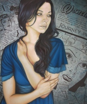 Alla scaped from the comic book - Fran Recacha