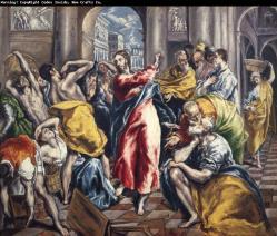 La purificación del templo - El Greco