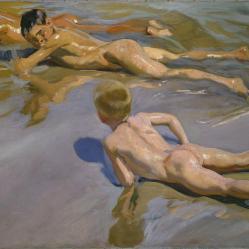 Niños en la playa - Joaquín Sorolla