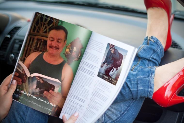 Edwin leyendo 'El viaje de Pau'