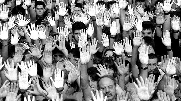 Manifestación de repulsa por el asesinato de Miguel Ángel Blanco