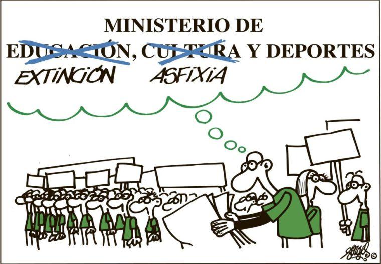 Viñeta Forges huelga educación