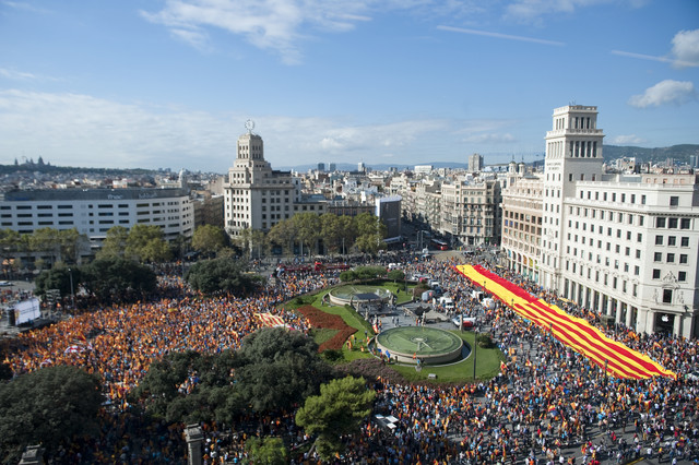 Manifestación 12 de octubre Barcelona