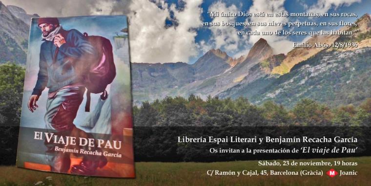 Flyer presentación 'El viaje de Pau'