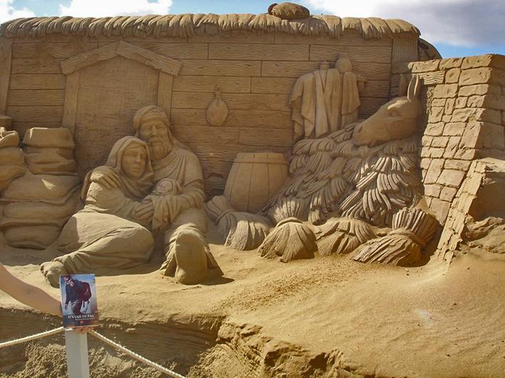 Gran Canaria - Belén de Arena en la playa de las Canteras
