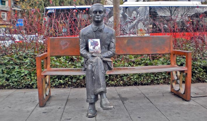 Granada - Estatua Federico García Lorca