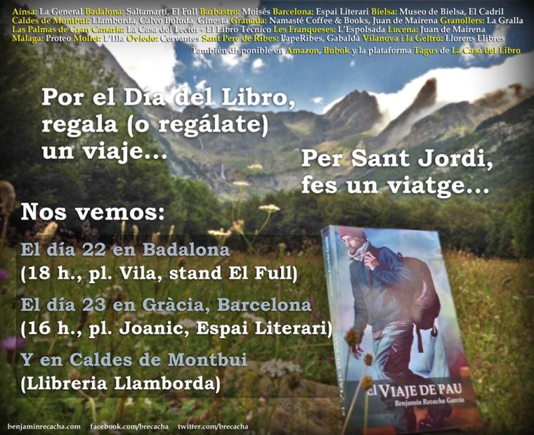 El viaje de Pau - flyer Sant Jordi