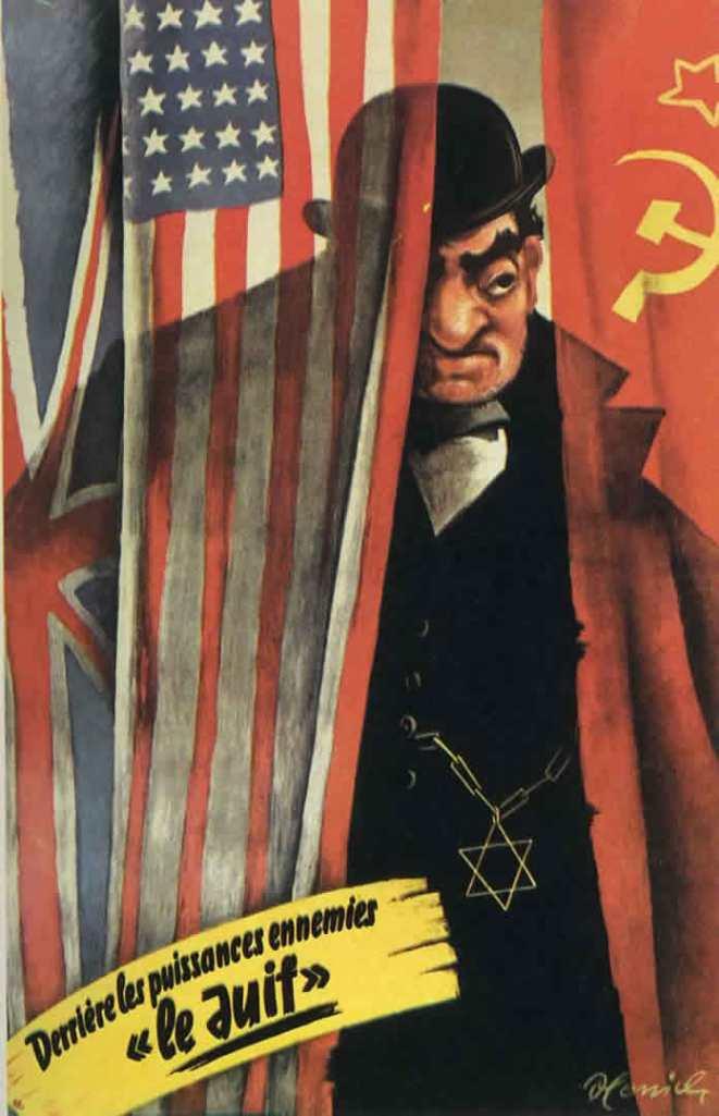 Cartel propaganda nazi antisemita