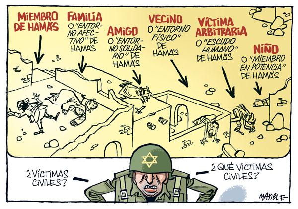 Viñeta de Manel Fontdevila sobre la masacre en Gaza.