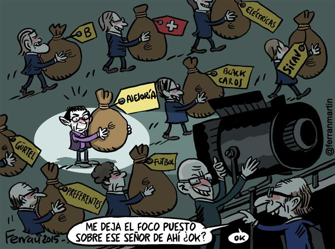 Caso Monedero - Viñeta Ferran Martín