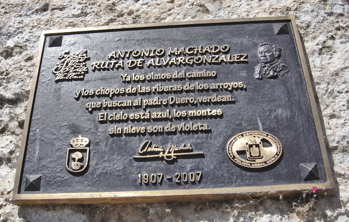 Vinuesa - Placa Antonio Machado