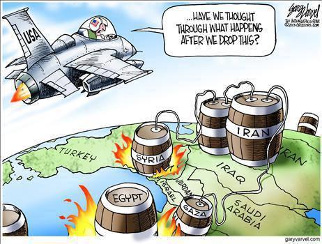viñeta bombardeos