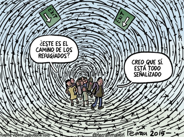 Viñeta refugiados - Ferran