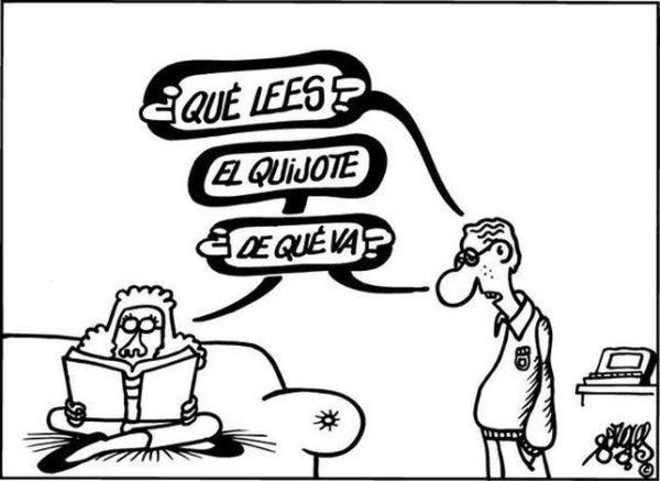 viñeta Forges - El Quijote