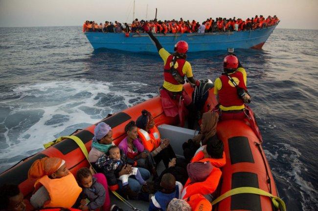 Rescate de Proactiva Open Arms frente a Libia